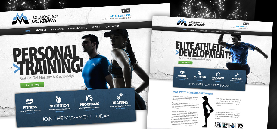 Personal Training Web Design Concept