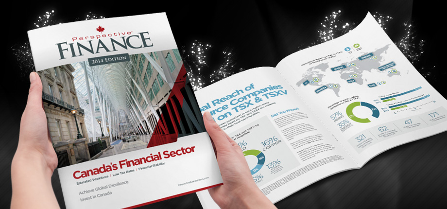 Financial Report Magazine Cover & Editorial