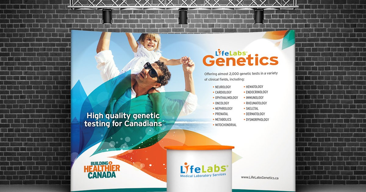 LifeLabs Genetics Booth