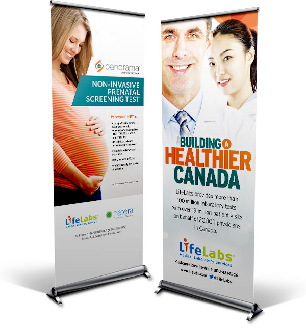 LifeLabs Retractable Banners